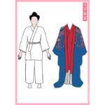 【大きいサイズ版】琉球舞踊 紙人形 アイキャッチ画像