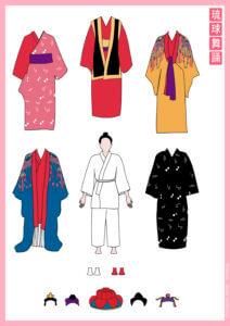 琉球舞踊の紙人形