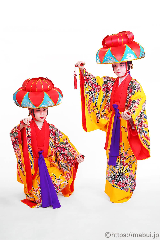 四つ竹の舞踊写真