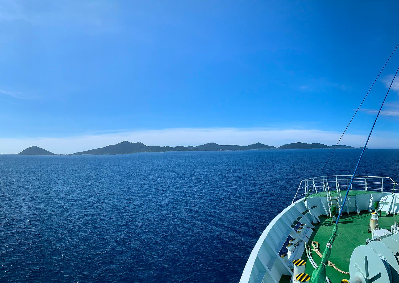 伊平屋島の全景