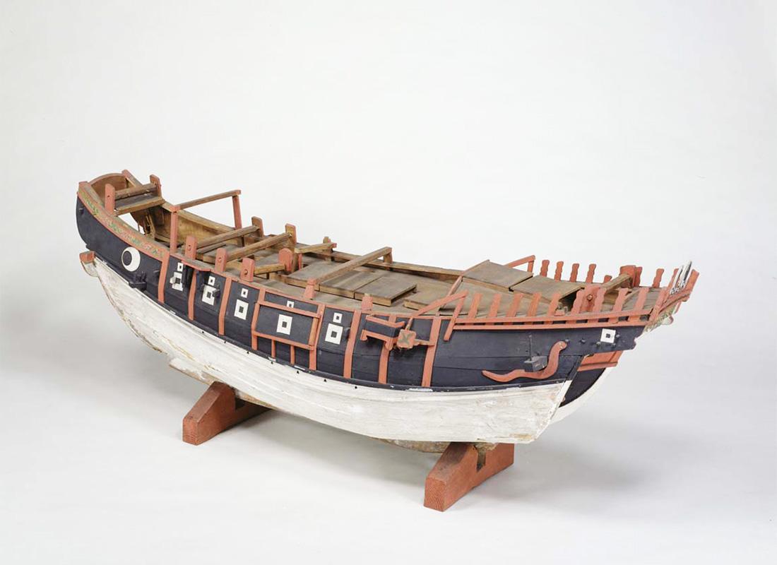 進貢船の模型